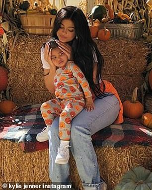 The two did not seem to be spending any time together until it became obvious on Thursday that he went with Kylie when she took their daughter to a pumpkin patch in Calabasas, California