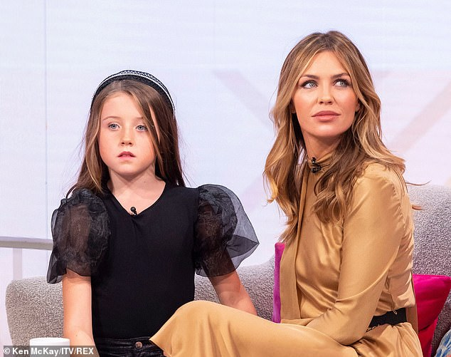Abbey Clancy and daughter Sophia Ruby Crouch on ITV's Lorraine explaining her decision to take her eight-year-old to do her first fashion shoot with her