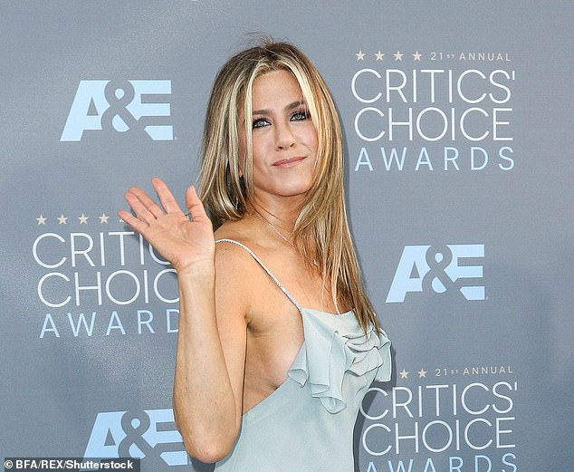 Friends star Jennifer Aniston attending the 21st Annual Critics' Choice Awards, in Los Angeles in 2016