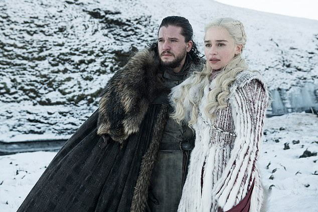 The 32-year-old said she felt sorry for executive producers David Benioff and Dan Weiss: 'The only thing I felt truthfully sad about was that David and Dan are my really good friends, and so it's for them that I feel heartbreak' she said. Pictured in Game of Thrones withKit Harington