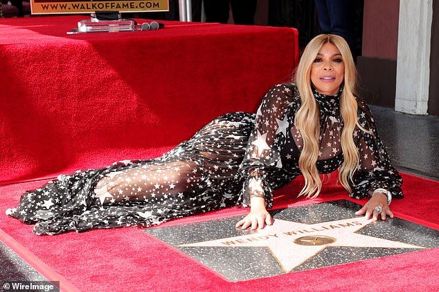 Truly a star: Thursday was a truly special day for Williams, who arrived to the occasion of her star unveiling in Hollywood appropriately decked out in a sheer dress covered in stars