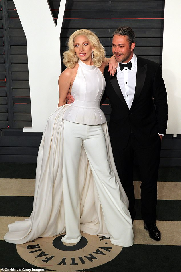 Former flame: Gaga with her then-fiance, Taylor Kinney, in 2016