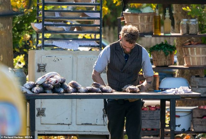 Fish is also on the menu as one of the rugged caterers prepares the sumptuous seafood in the open air
