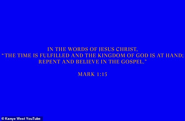 The word: The Jesus Is King BTS clip begins much in the same way his trailer for the film from earlier in the week began, with quotes from scripture set against a blue background