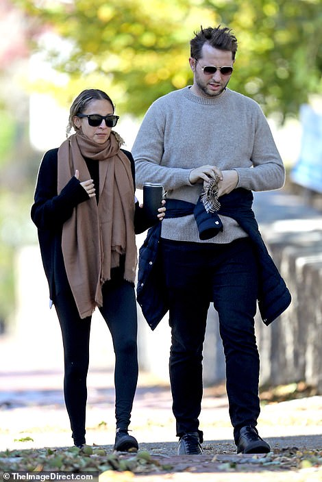 10/19/2019 Nicole Ritchie and Derek Blasberg Step Out For a morning stroll in Newport Rhode Island