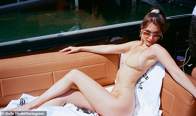 Supermodel Bella Hadid was one of the first to champion the look after she shared a photo of herself to Instagram in 2018 wearing a blush-hued two-piece by Storm