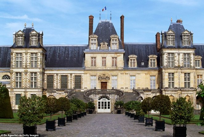 The reception took place at the 12th century Fontainebleau Palace, located 34 miles away from Paris
