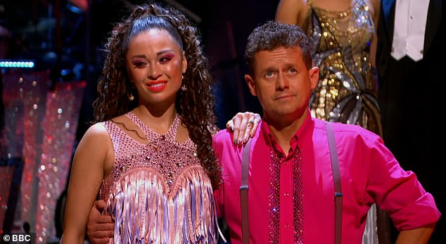 The judges chose to save Mike and Katy, withMotsi Mabuse saying: 'Well I felt that one couple gave me a better performance than I saw the first time so I¿m going to save Mike and Katya