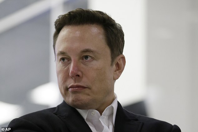 Tesla founder Mr Musk has sold 20,000 of the devices at £385 a throw. Its brand name is Not-a-Flamethrower, a ruse to avoid customs regulations. Mr Musk is pictured above