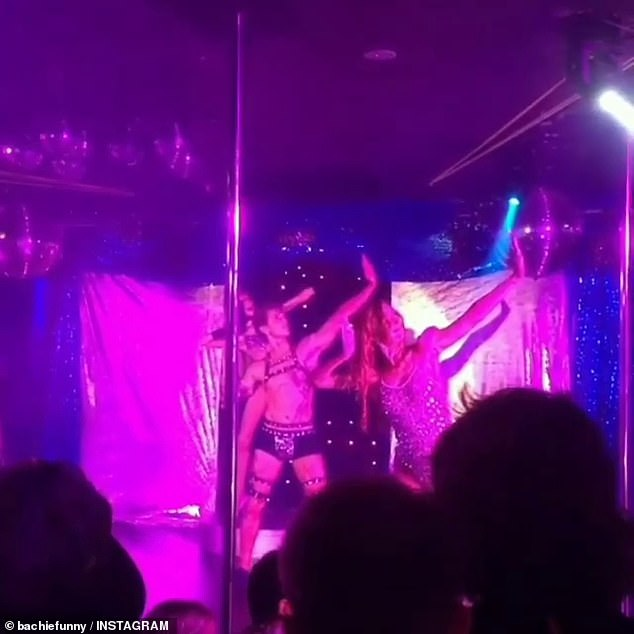He's not shy! Last week, extraordinary footage emerged of Ciarran performing on stage at gay nightclub Throb in Darwin. Pictured in January 2018