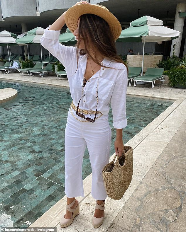 Kmart Australia have launched a $20 pair of wide leg white jeans as part of their latest summer range that are ten times cheaper than identical designer denim