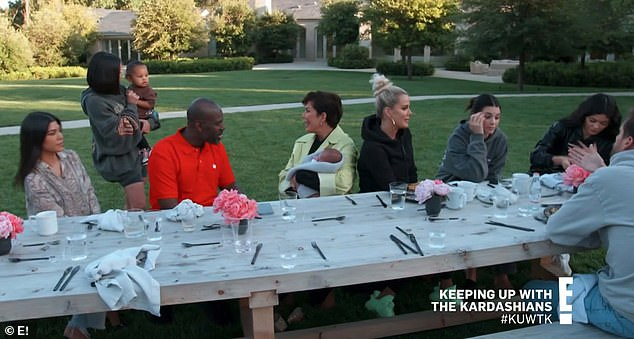 Family brunch: The Kardashian family gathered to meet Psalm and learned the story behind his name