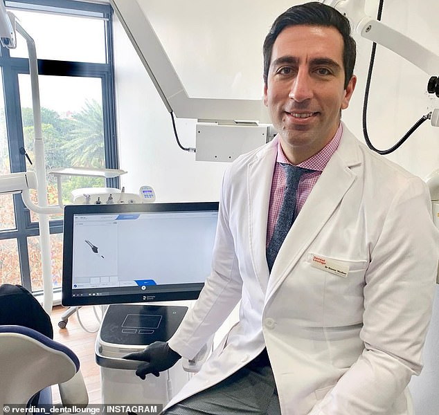 Dr Gamer Verdian (pictured) is the founder and director of one of Sydney's foremost dental clinics, the Dental Lounge , and an expert when it comes to teeth whitening