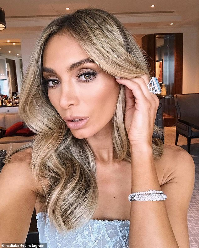 Tough break: Nadia endured a volatile split from Jimmy, 35, in August, and shortly after their break up was made public, it was revealed he had moved on with Lauren Mand