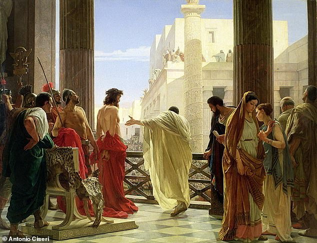 Pilate is best known as the biblical official who presided over the trial of Jesus and ordered his crucifixion, as depicted in this painting