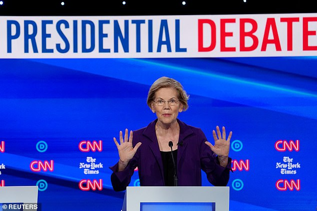 Democratic presidential candidate Senator Elizabeth Warren is virtually tied with former Vice President Joe Biden at the top of the poll