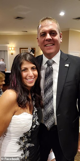 Esposito posed with photos with politicians  and law enforcement officials including Indian River County Sheriff's Office Major Eric Flowers (pictured) at fancy charity event earlier this month