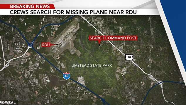 Rescuers spent the night searching in and around William B. Umstead State Park, a 5,600-acre (2,260-hectare) wooded expanse bounded by an interstate, the airport and a state highway