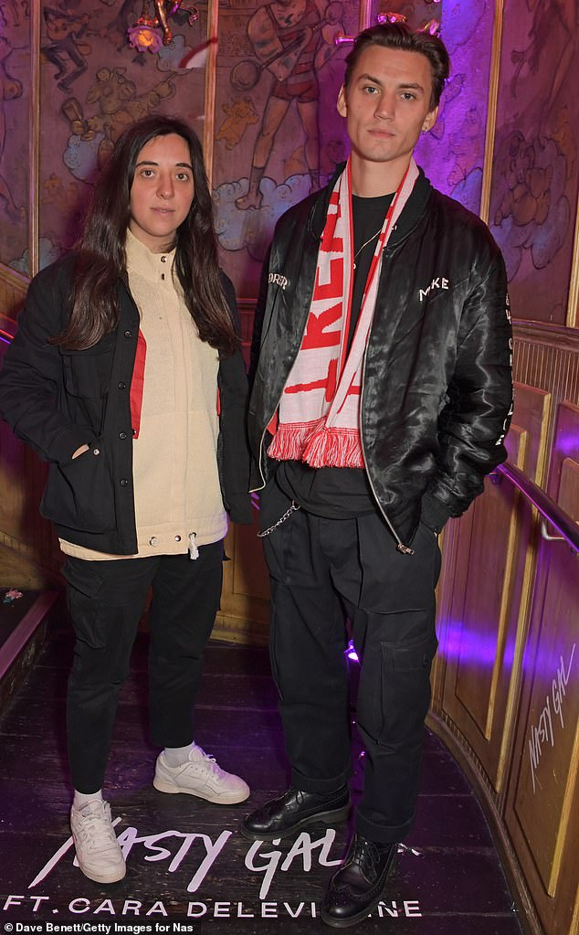 Casual:Chloe Caillet and Josh McLellan Ludlow opted to wear comfy attire for the party