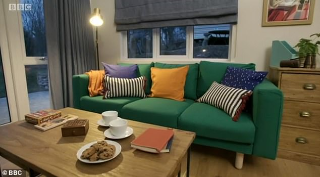 Luxurious sofas with comfortable cushions were added to the tastefully decorated property