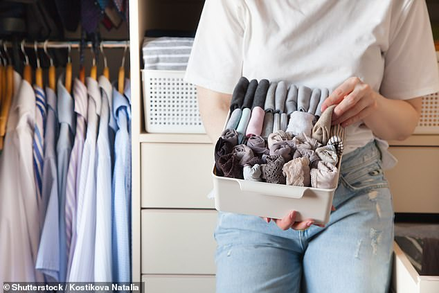 The KonMari Method inspires people to fold all their clothes upright so its neat and tidy