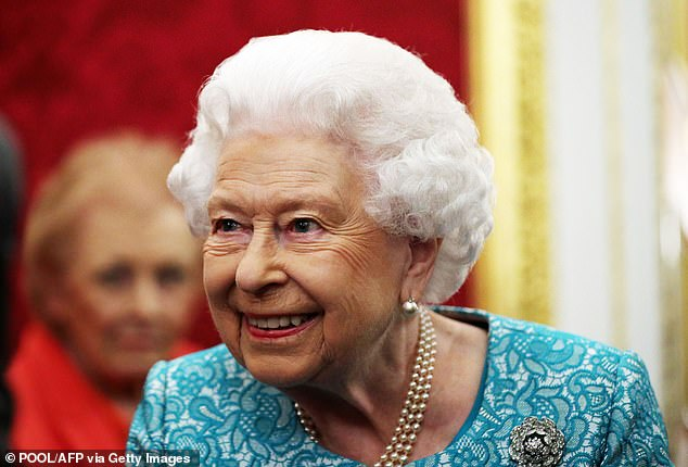 The Queen attends a reception at St James's Palace, London on October 21, 2019, to commemorate the 60th anniversary of Cruse Bereavement Care