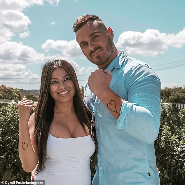 It's over! Cyrell also removed all traces of her ex from her Instagram feed, while Eden left images with his former partner firmly on his page (Pictured: Eden and Cyrell before their split)