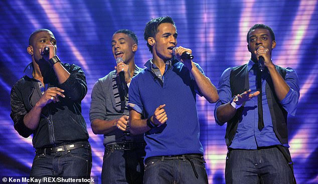 Former band:Oritsé's ready to put the false allegations behind him as he prepares to release an album he spent the last three years working on (pictured in JLS in 2008)