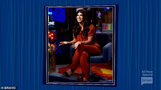 Color theme: Joe wore an orange sportscoat reminding Andy of Teresa's jumpsuit from a prior interview