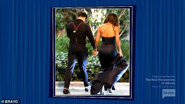 Holding hands: Teresa said that Joe was not the jealous type