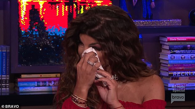 Happy tears: The reality star admitted that she was not attracted to Joe physically while he was behind bars and cried as she reflected on all they've been through