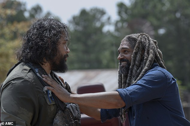 He's back: Ezekiel returned and told Jerry [Cooper Andrews] that he was fine