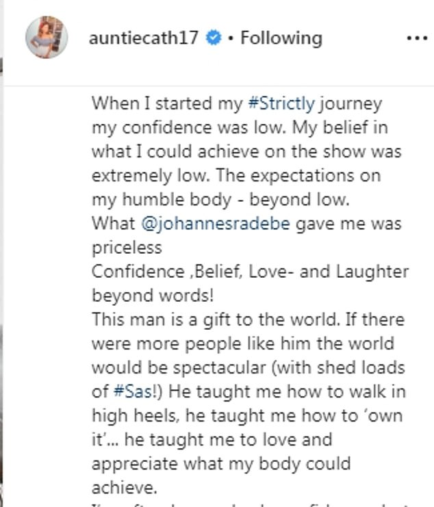 Confidence:'When I started my journey my confidence was low,' the actress explained. 'My belief in what I could achieve on the show was extremely low'