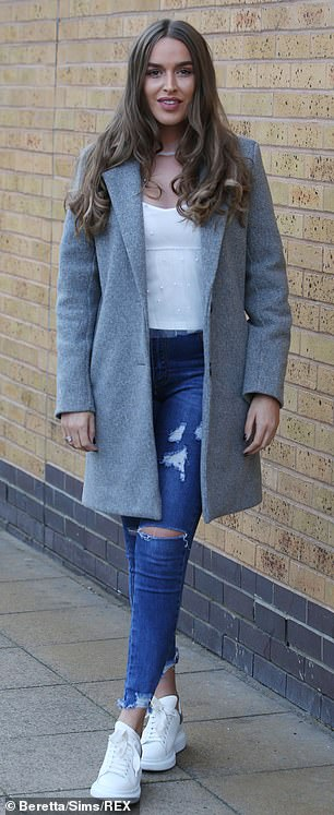 Reporting for duty: Also on hand for the day of shooting in Essex was co-star Chloe Ross