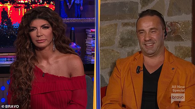 Deep pockets: 'I tell her, she¿s got to get someone with a lot of money to take care of those things,' he said during Bravo's The Real Housewives Of New Jersey Special Event: Joe and Teresa Unlocked, which aired Sunday night