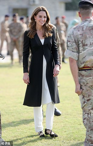 The Duchess of Cambridge (pictured) 'is doing her best' to try and reach out to Prince Harry and Meghan Markle following their emotional documentary, a royal expert claims