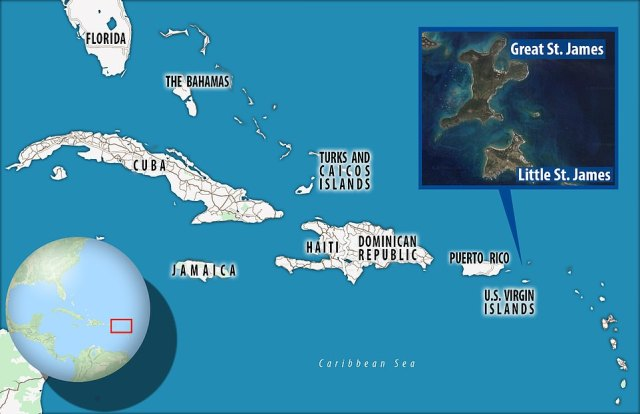 Caribbean getaway:Epstein was the owner of not one, but two islands in the Caribbean, having more than doubled his property holdings in January 2016 when he paid $18 million for Great St James