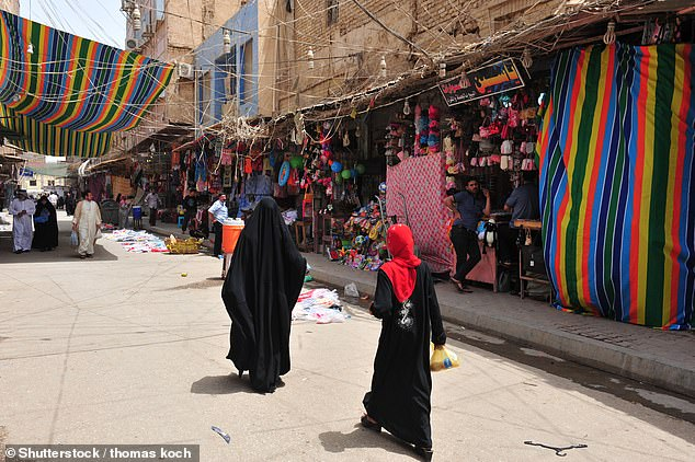 Manal Aqrawe, had been living in Mosul, Iraq, when the terror group took over in 2014. She left her home and job to find safety (stock image pictured)
