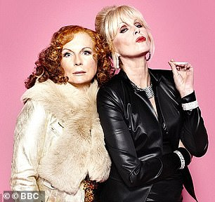 Fabulous: Jennifer and Joanna pictured as their Ab Fab characters