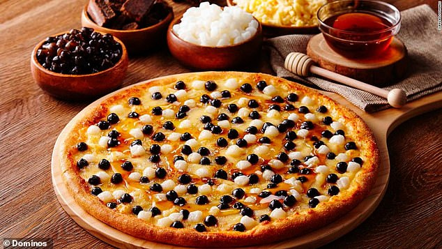 Domino's launches a bubble tea-inspired pizza - complete with black pearls, honey and cheese