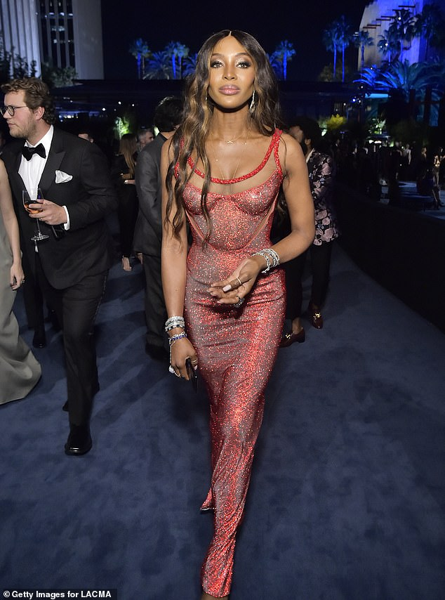 Making her way: The Star actress looked absolutely phenomenal as she strutted into the gala with confidence