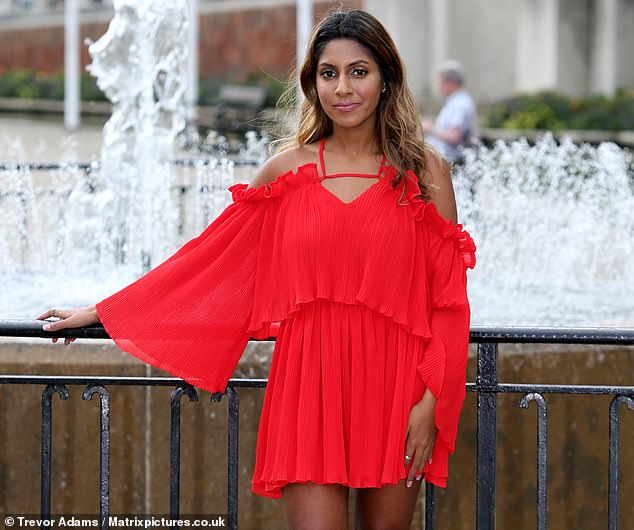 Myah Jagjivan, 22, had to go to hospital after her leg started blistering and 'ballooning' following the treatment which causedsecond degree burns