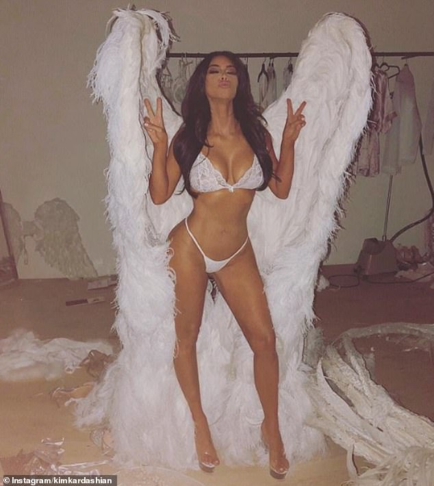 As she was: Last year, she gave E! News an update on her fitness: 'I've lost 20 pounds and I'm really proud of that. I was almost 140 forever and now I'm, like, 116 and it just feels good'; she is seen in her 2018 Halloween outfit