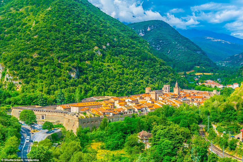 The beautiful village of Villefranche-de-Conflent, which lies deep in a valley where the Cady and Tet rivers meet. It's 34 miles away from Perpignan-Rivesaltes airport