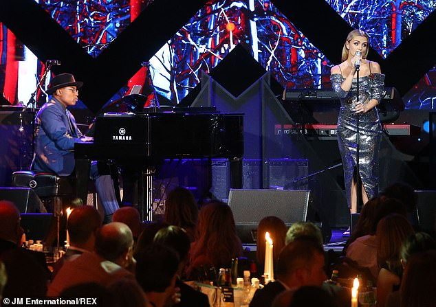 Team: Katherine Jenkins performed at the Music Industry Trusts Award at the London hotel