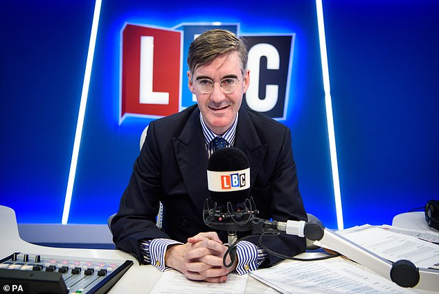 Mr Rees-Mogg is pictured on LBC earlier this year in January