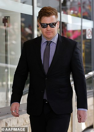 Benjamin Batterham is pictured leaving court on Monday
