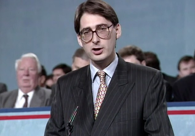 Anthony Seldon's new biography of the former PM suggests Hammond had been resentful of Mrs May ever since 1995 when losing the Maidenhead Tory nomination to her (he is pictured on Newsnight in 1993)