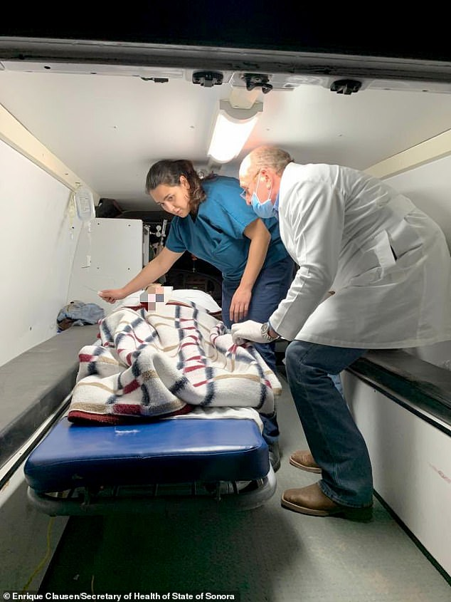 """Medical personnel of the Health Secretary and of the Mexican Air Force transfering five members of the Lebaron family after being injured during an gunmen ambush in the limits of Sonora and Chihuahua in Hermosillo.President Donald Trump offered Tuesday to help Mexico """"wage war"""" on its cartels after three women and six children from an American Mormon community were murdered in an area notorious for drug traffickers"""