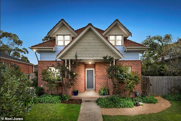 Meanwhile a townhouse auctioned off in Box Hill (pictured) for $200,000 above the reserve price with a host of buyers competing to make it their own